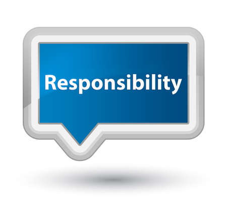 Responsibility isolated on prime blue banner button abstract illustration Stock Photo