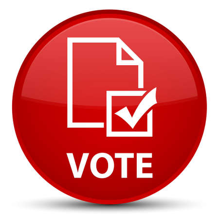 Vote (survey icon) isolated on special red round button abstract illustration Stock Photo