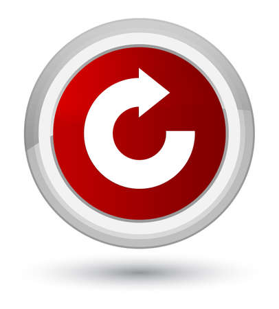 Reply arrow icon isolated on prime red round button abstract illustration