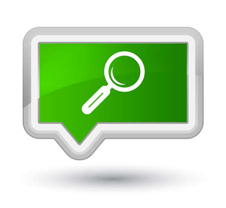 Magnifying glass icon isolated on prime green banner button abstract illustration Stock Photo