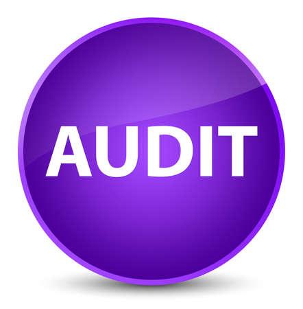 Audit isolated on elegant purple round button abstract illustration Stock Photo