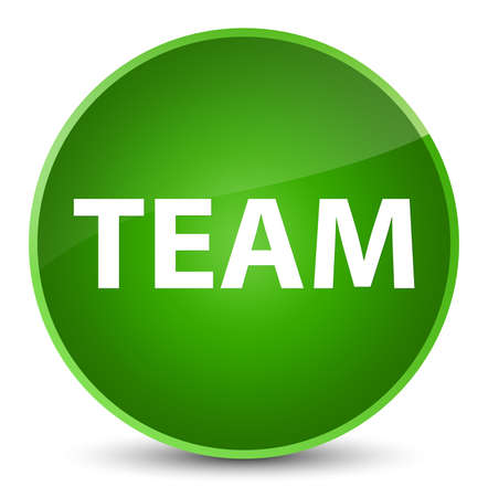 troupe: Team isolated on elegant green round button abstract illustration