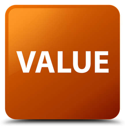 Value isolated on brown square button abstract illustration