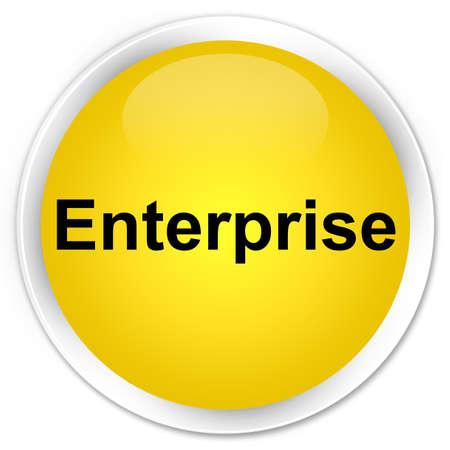 Enterprise isolated on premium yellow round button abstract illustration