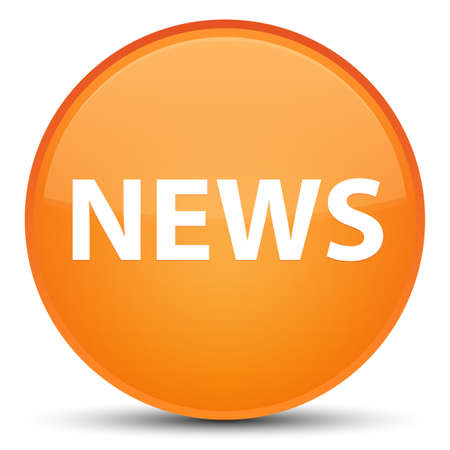 News isolated on special orange round button abstract illustration Stock Photo