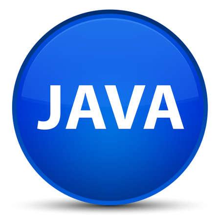 特別な青い丸いボタンの抽象的なイラストに分離された Java