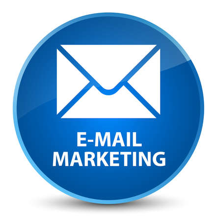 E-mail marketing isolated on elegant blue round button abstract illustration