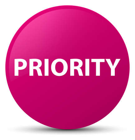 Priority isolated on pink round button abstract illustration Stock fotó