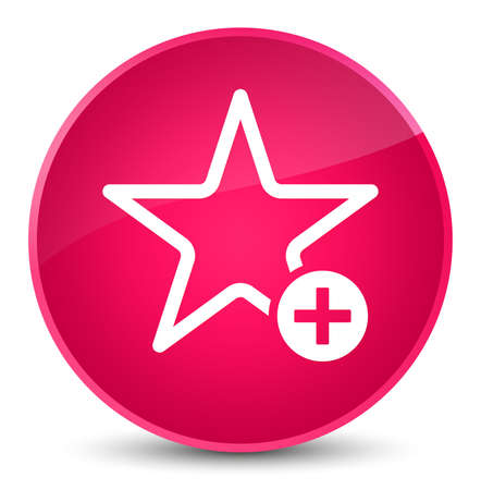 Add to favorite icon isolated on elegant pink round button abstract illustration