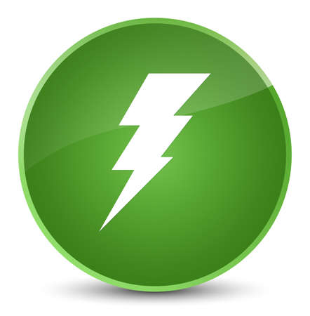 Electricity icon isolated on elegant soft green round button abstract illustration