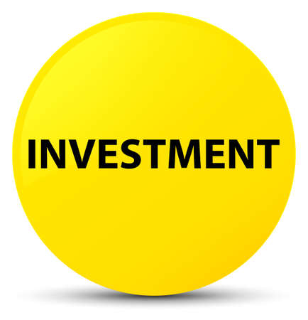 Investment isolated on yellow round button abstract illustration