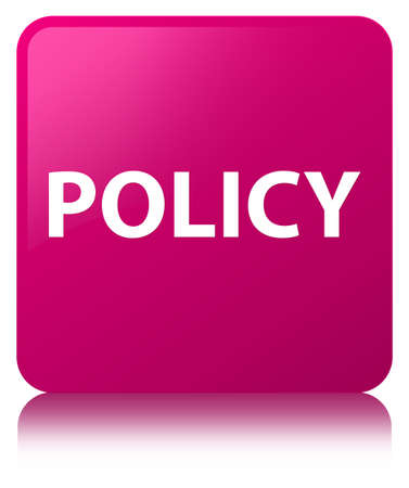 Policy isolated on pink square button reflected abstract illustration