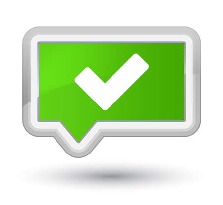 Validate icon isolated on prime soft green banner button abstract illustration
