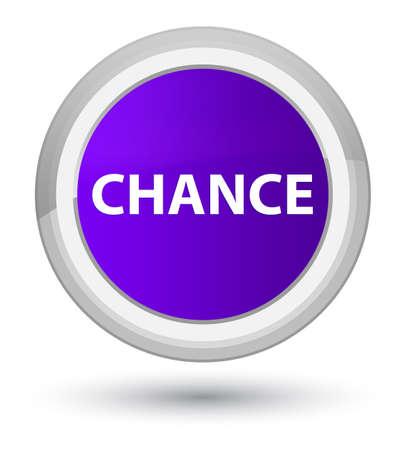 チャンス ボタンの抽象的なイラスト ラウンド紫総理に分離