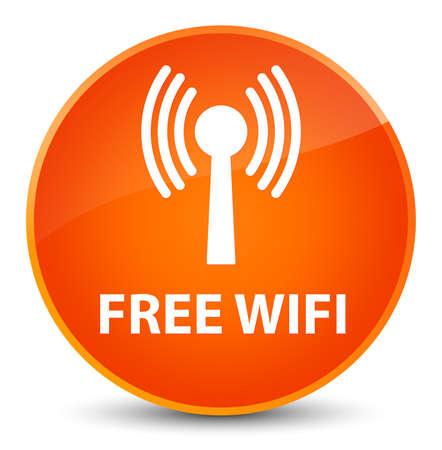 Wifi gratuit (réseau WLAN) isolé sur une illustration abstraite élégante bouton rond orange Banque d'images - 88800839