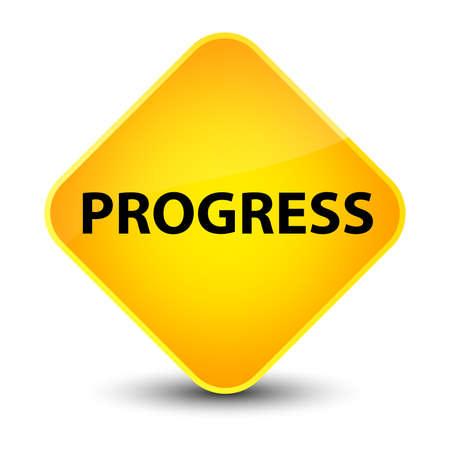 Progress isolated on elegant yellow diamond button abstract illustration