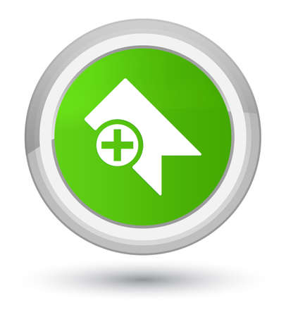 Bookmark icon isolated on prime soft green round button abstract illustration Stock Photo