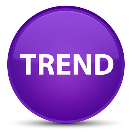 Trend isolated on special purple round button abstract illustration