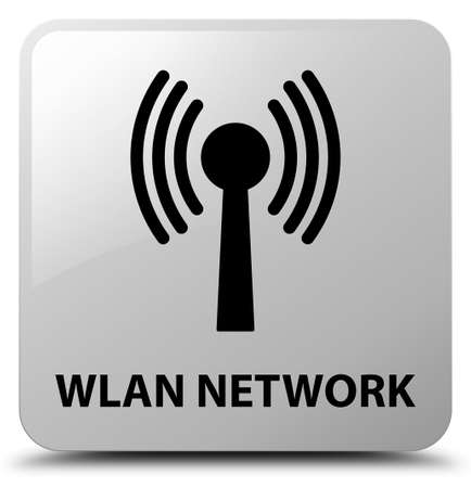 Wlan network isolated on white square button abstract illustration