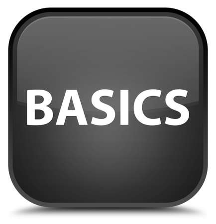 Basics isolated on special black square button abstract illustration