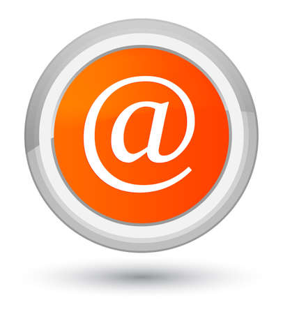 Email address icon isolated on prime orange round button abstract illustration
