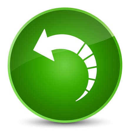 Back arrow icon isolated on elegant green round button abstract illustration