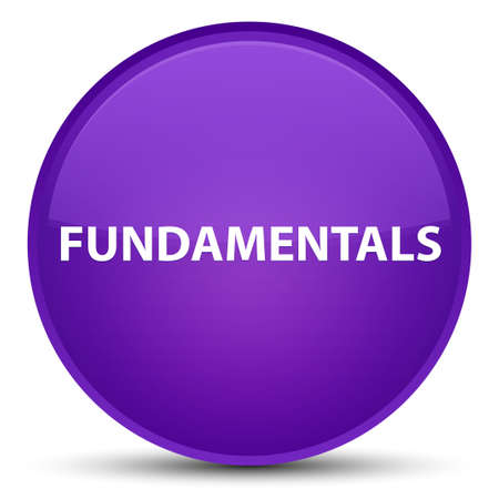 Fundamentals isolated on special purple round button abstract illustration Stock Photo