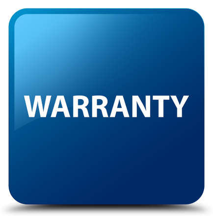 Warranty isolated on blue square button abstract illustration Stock Photo