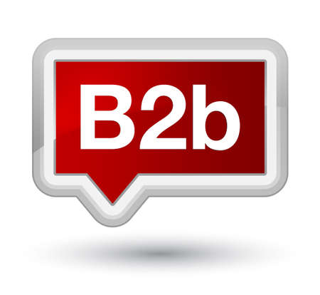 B2b isolated on prime red banner button abstract illustration