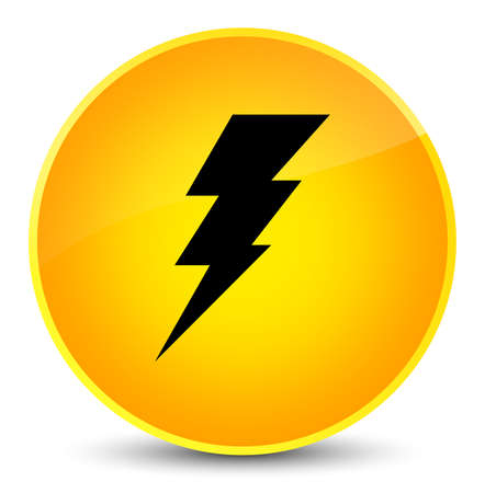 Electricity icon isolated on elegant yellow round button abstract illustration
