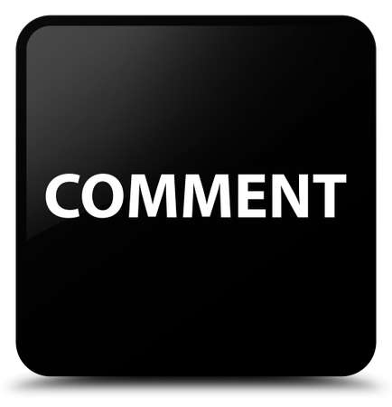 Comment isolated on black square button abstract illustration