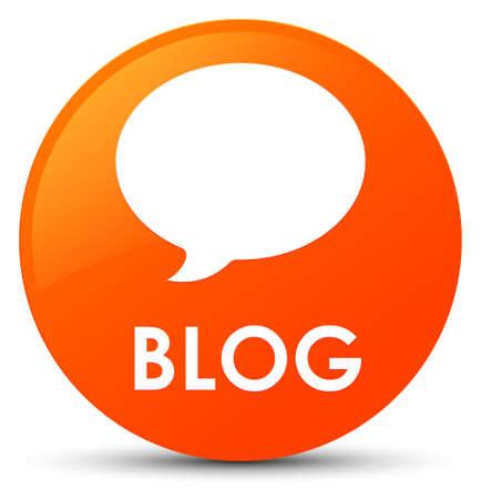 Blog (conversation icon) isolated on orange round button abstract illustration