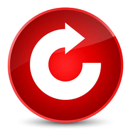 Reply arrow icon isolated on elegant red round button abstract illustration
