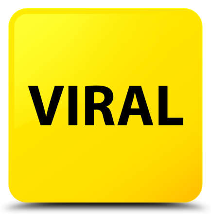 Viral isolated on yellow square button abstract illustration