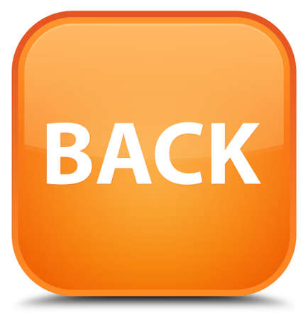 Back isolated on special orange square button abstract illustration Stock Photo