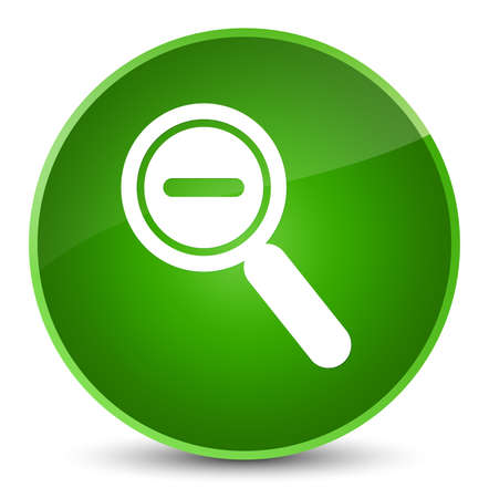 Zoom out icon isolated on elegant green round button abstract illustration Stock Photo
