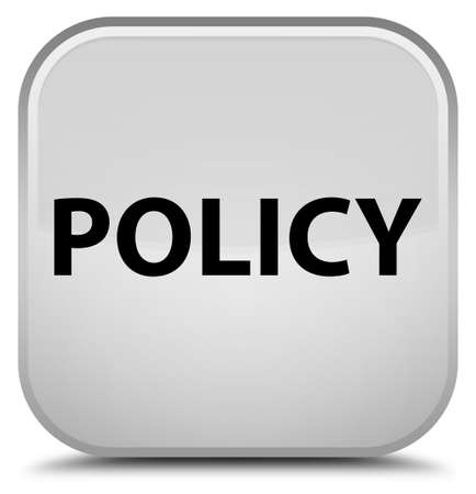 Policy isolated on special white square button abstract illustration