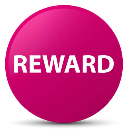 Reward isolated on pink round button abstract illustration