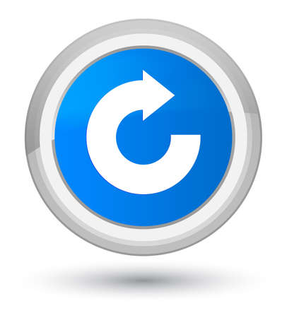 refresh icon: Reply arrow icon isolated on prime cyan blue round button abstract illustration