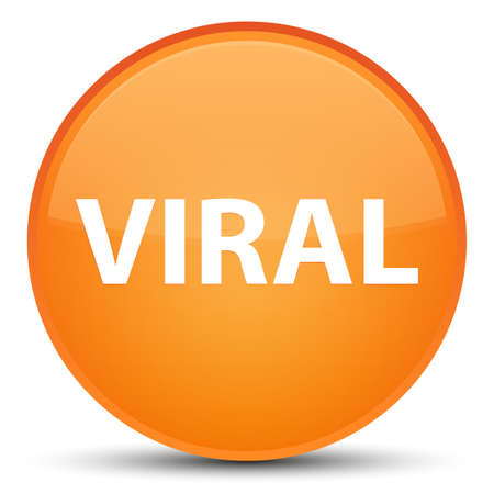 Viral isolated on special orange round button abstract illustration Stock Photo