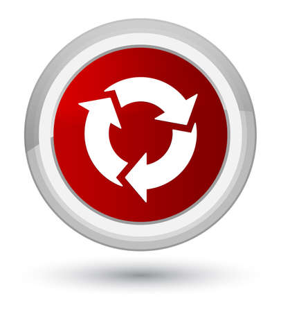 improving: Refresh icon isolated on prime red round button abstract illustration Stock Photo
