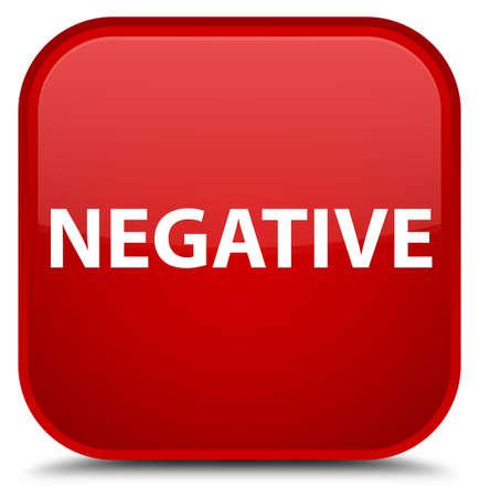 Negativo aislado en la ilustración abstracta de botón cuadrado rojo especial Foto de archivo - 88922086