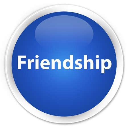 Friendship isolated on premium blue round button abstract illustration Reklamní fotografie