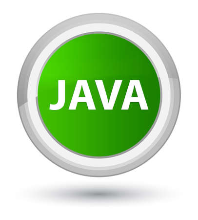 Java isolated on prime green round button abstract illustration
