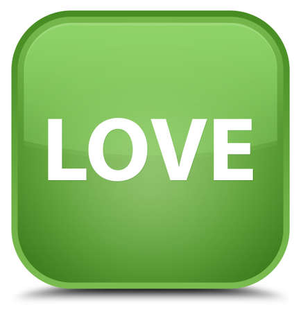 Love isolated on special soft green square button abstract illustration