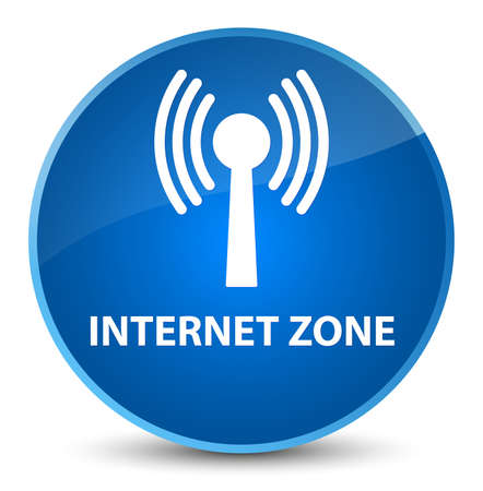 Internet zone (wlan network) isolated on elegant blue round button abstract illustration Stock Photo
