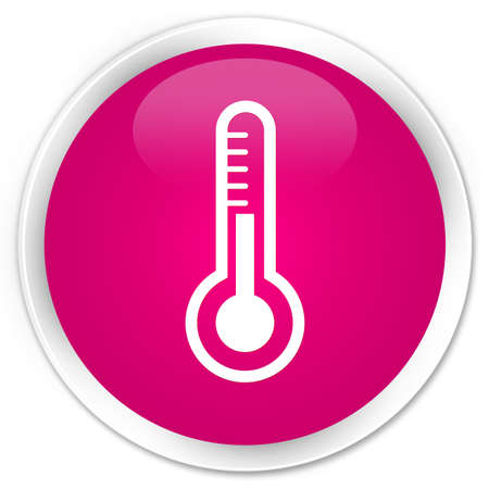 termometro: Thermometer icon isolated on premium pink round button abstract illustration