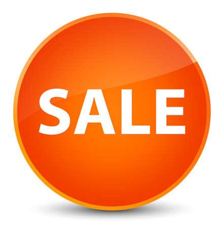 Sale isolated on elegant orange round button abstract illustration Stock Photo