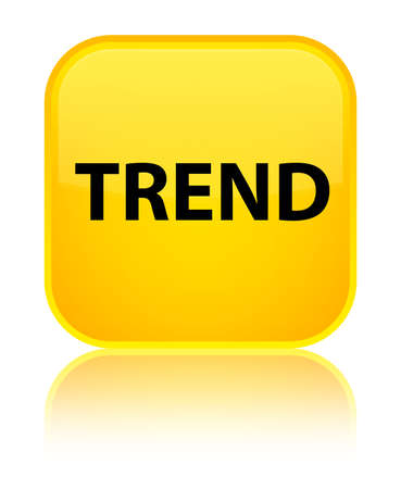 Trend isolated on special yellow square button reflected abstract illustration
