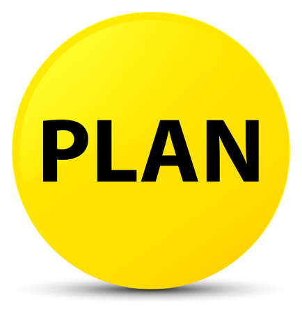 Plan isolated on yellow round button abstract illustration